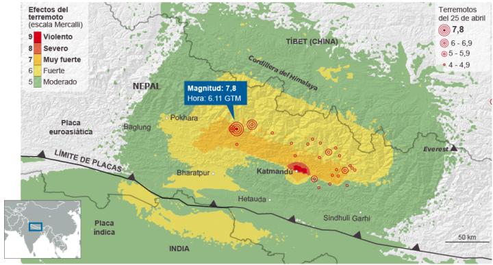 Figura 3: Zonas afectadas. Fuente: http://elpais.com/.