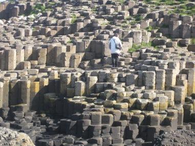 Figura 7: Columnas poligonales de los Basaltos Intermedios de Giant's Causeway. Fuente propia.