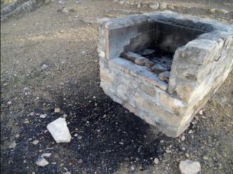 Barbacoa que ha producido un incendio pequeño. Fuente: Wikipedia